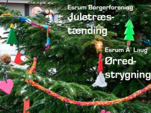 Juletræstænding og Ørredstrygning i Esrum @ Foran Esrum Kostskole og ved Esrum Å Laug | Græsted | Danmark