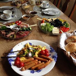 Morgenmad i Villa Eskild B&B