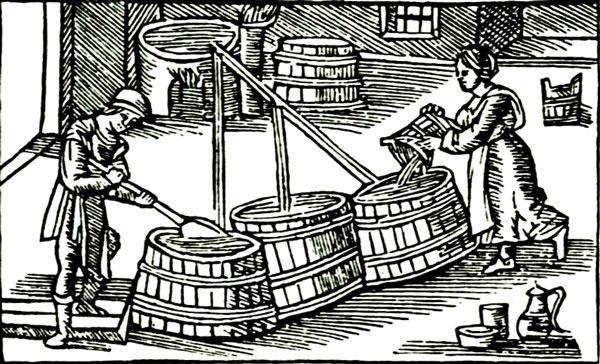 middelalderens ølbrygning