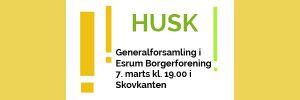 Generalforsamling i Esrum Borgerforening 2017
