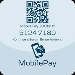 Betal kontingent til Esrum Borgerforening med MobilePay.