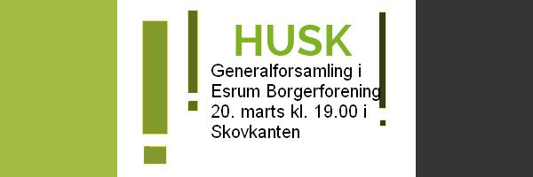 Generalforsamling i Esrum Borgerforening 2018
