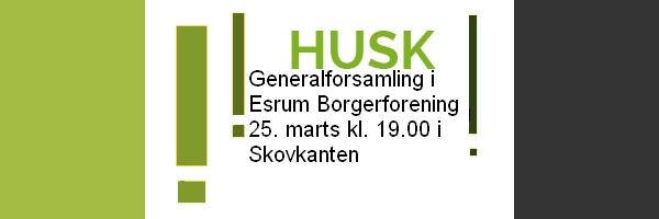 Generalforsamling i Esrum Borgerforening 2019